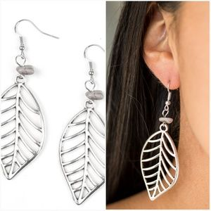 BOUGH OUT SILVER EARRINGS
